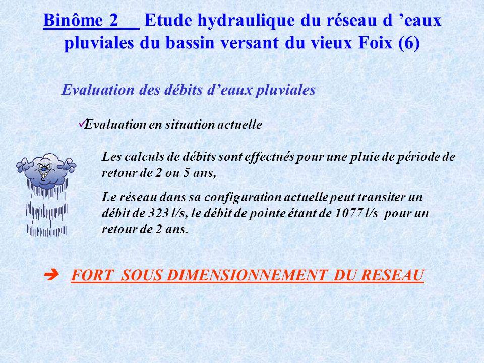 Binôme 2 Etude hydraulique du réseau d eaux pluviales du bassin versant du vieux Foix (5)