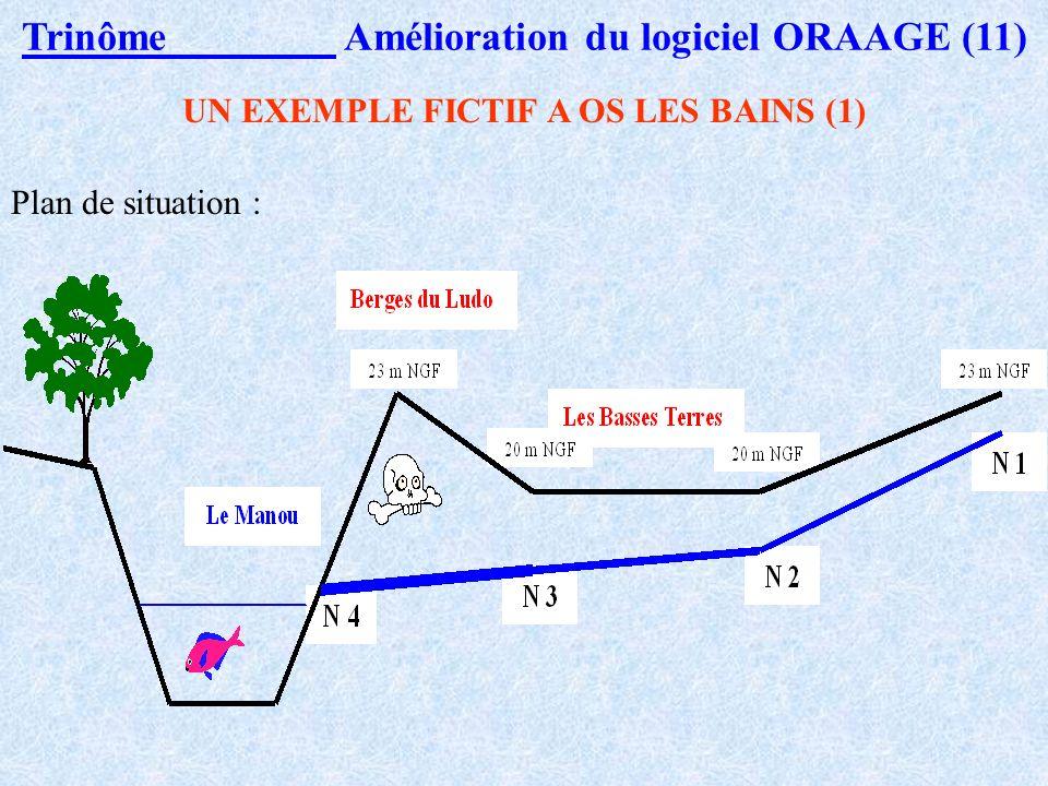 Trinôme Amélioration du logiciel ORAAGE (10) Prise en compte Du diamètre de la conduite. Du volume de terre à extraire pour la pose des collecteurs. E