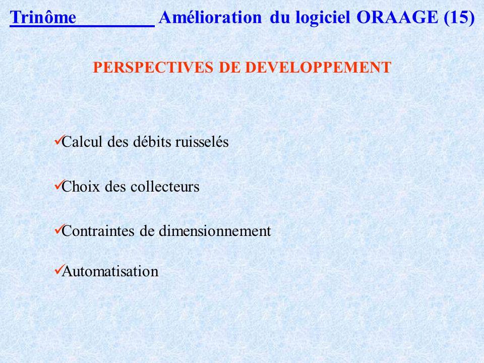 Trinôme Amélioration du logiciel ORAAGE (14) Résultats : UN EXEMPLE FICTIF A OS LES BAINS (4)