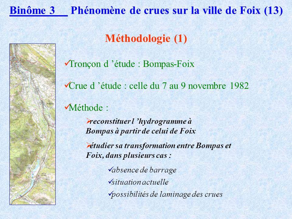 Le barrage de Garrabet mis en service en 1986 Binôme 3 Phénomène de crues sur la ville de Foix (12) de type poids deux évacuateurs de crue 42,50 m au-
