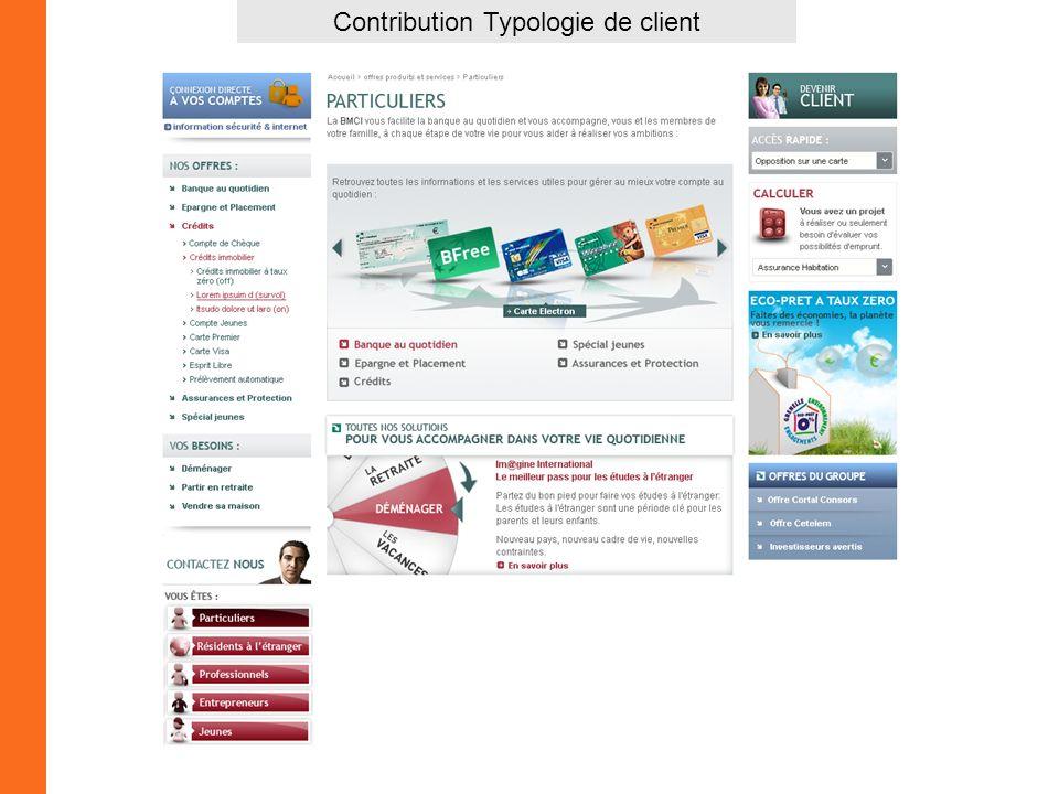 Contribution Typologie de client