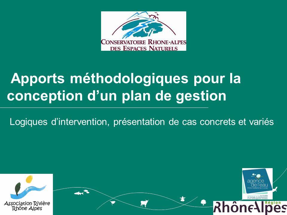 Apports méthodologiques pour la conception dun plan de gestion Logiques dintervention, présentation de cas concrets et variés