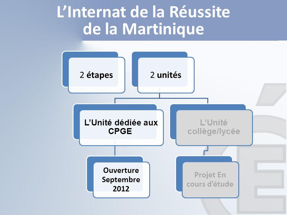 2 étapes2 unités LUnité dédiée aux CPGE Ouverture Septembre 2012 LUnité collège/lycée Projet En cours détude