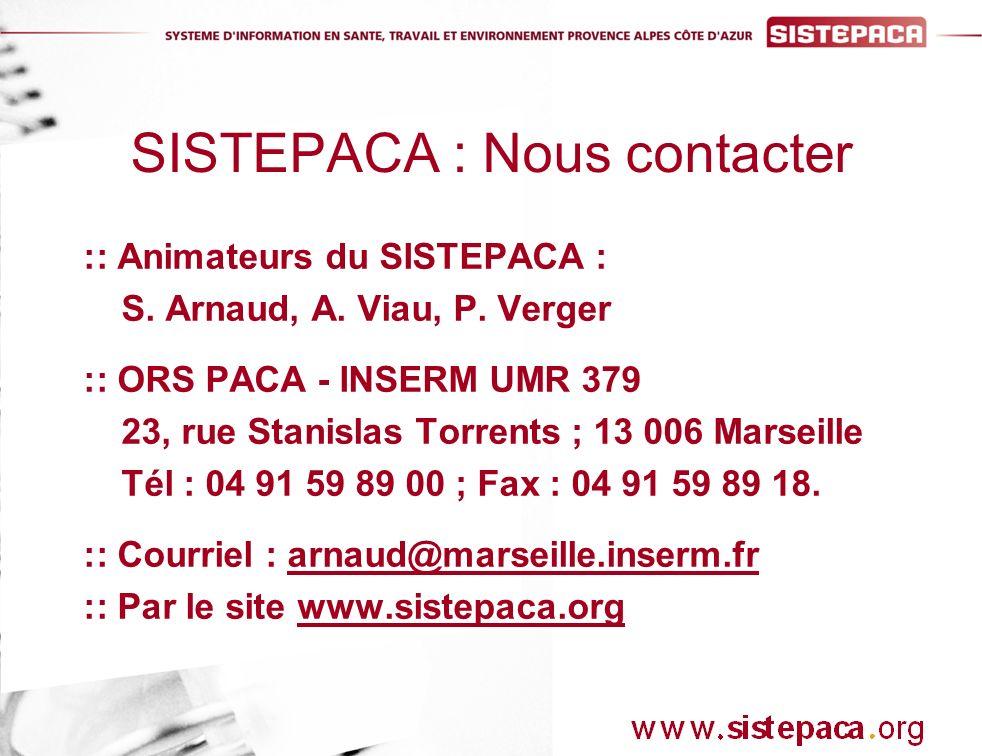 :: Animateurs du SISTEPACA : S. Arnaud, A. Viau, P.