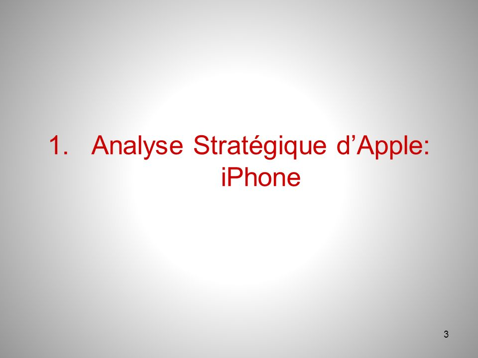 3 1.Analyse Stratégique dApple: iPhone