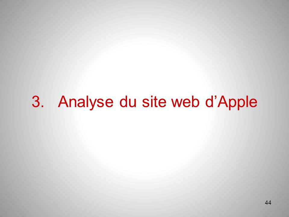 44 3.Analyse du site web dApple