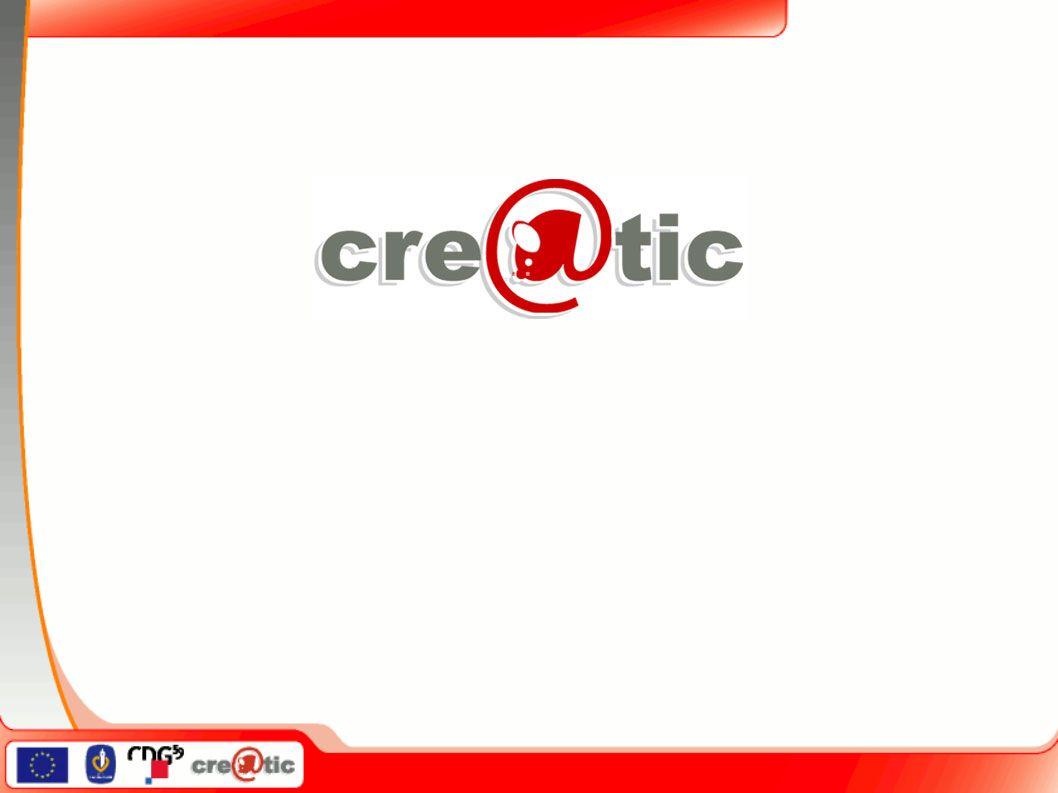 Cre @ tic 1.Une initiative du centre de gestion 2.