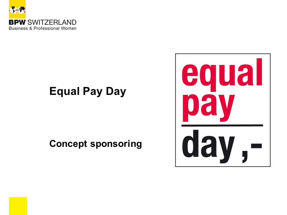 Equal Pay Day Concept sponsoring