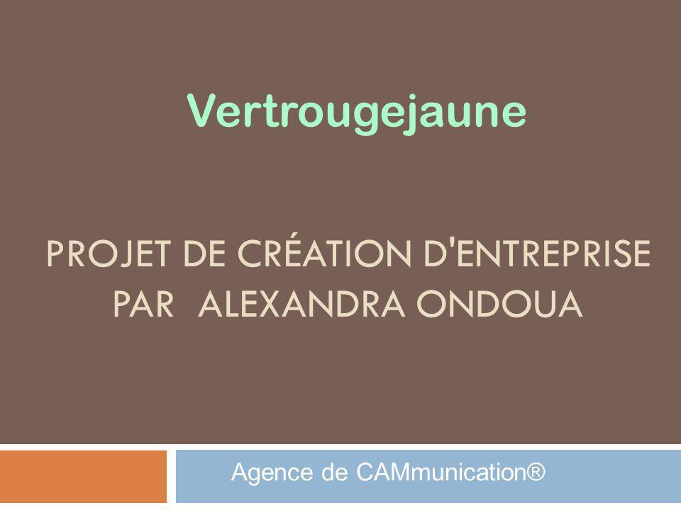 PROJET DE CRÉATION D'ENTREPRISE PAR ALEXANDRA ONDOUA Agence de CAMmunication® Vertrougejaune