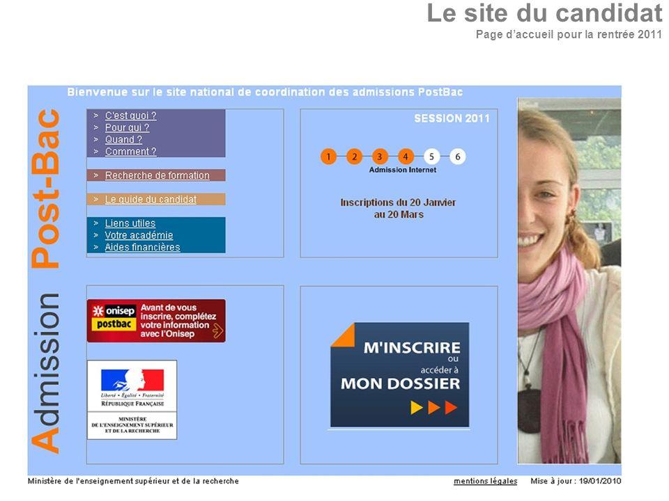 Le site du candidat Page daccueil pour la rentrée 2011