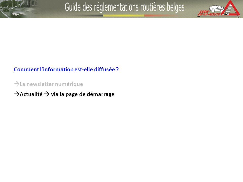 Comment linformation est-elle diffusée La newsletter numérique Actualité via la page de démarrage