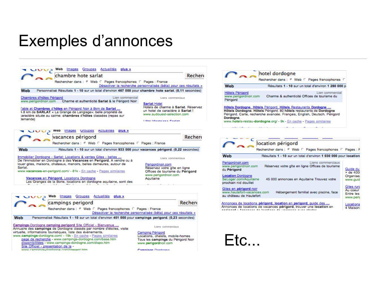 Exemples dannonces Etc...
