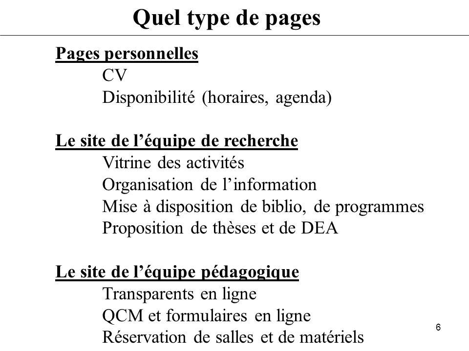 5 Quest-ce qun URL http://perso.univ-rennes1.fr/Eric.Hitti/index.html Type de « serveur » (http, ftp, telnet, file) Nom de la machine (machine.domaine