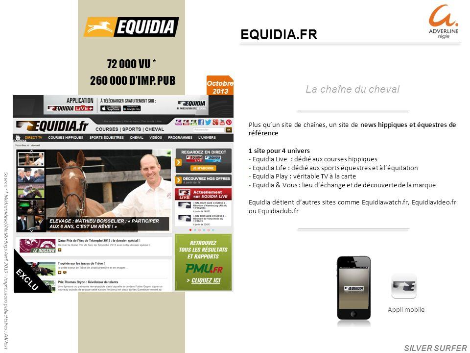 La chaîne du cheval EQUIDIA.FR 260 000 DIMP.