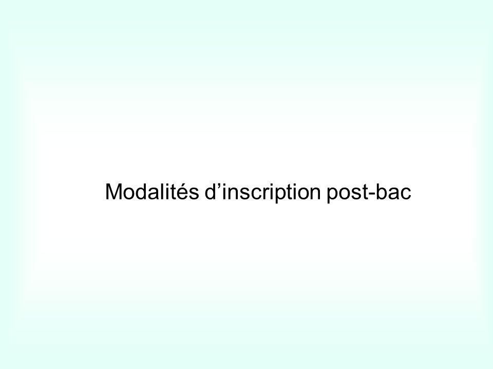 Modalités dinscription post-bac