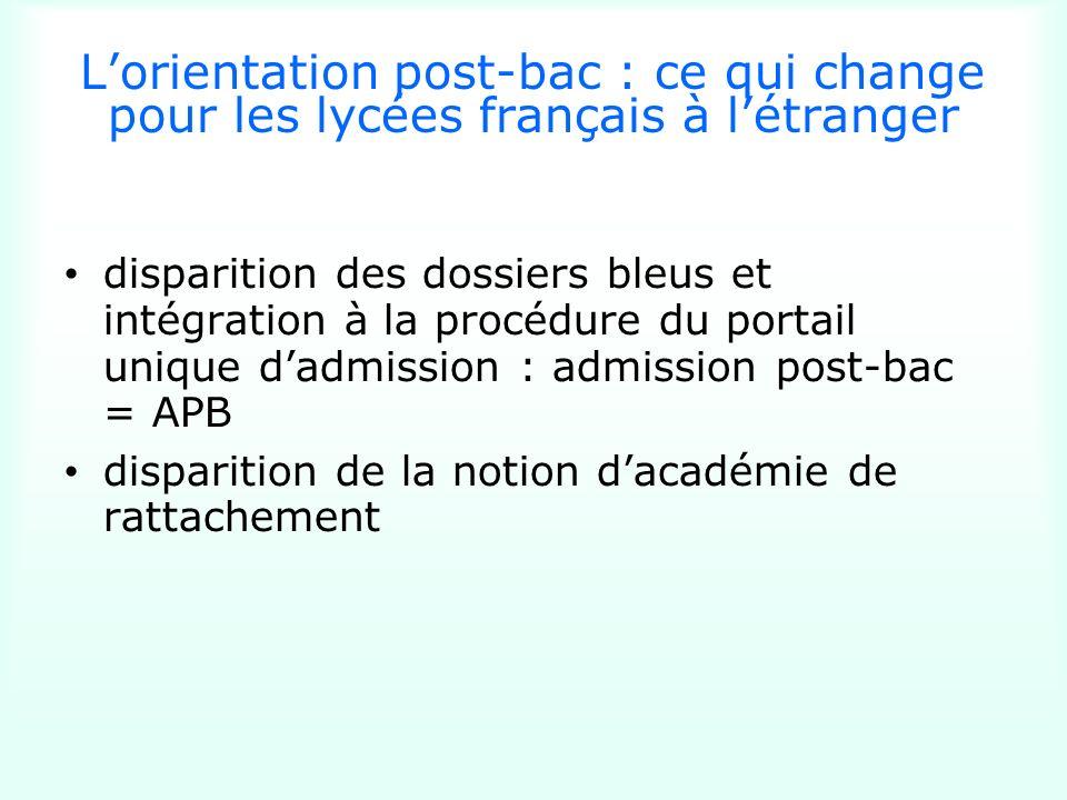 Lorientation post-bac : ce qui change pour les lycées français à létranger disparition des dossiers bleus et intégration à la procédure du portail uni