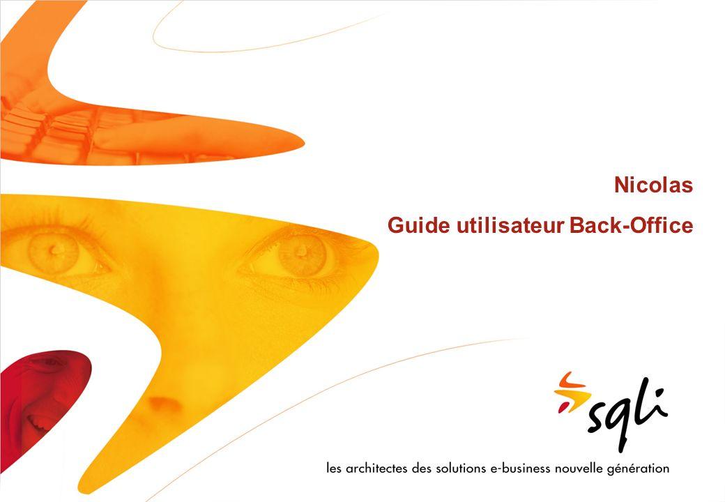 Confidentiel | © SQLI 2008 2 Sommaire 1.Gestion des contenus 1.1.