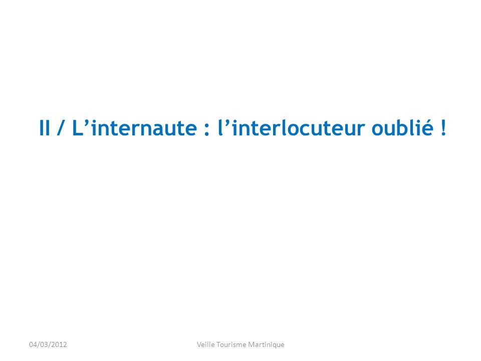04/03/2012Veille Tourisme Martinique II / Linternaute : linterlocuteur oublié !