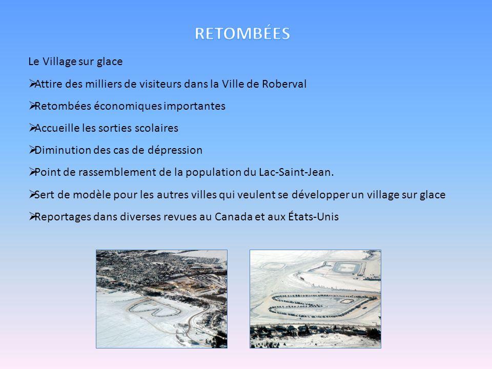 Le Village sur glace Attire des milliers de visiteurs dans la Ville de Roberval Retombées économiques importantes Accueille les sorties scolaires Dimi