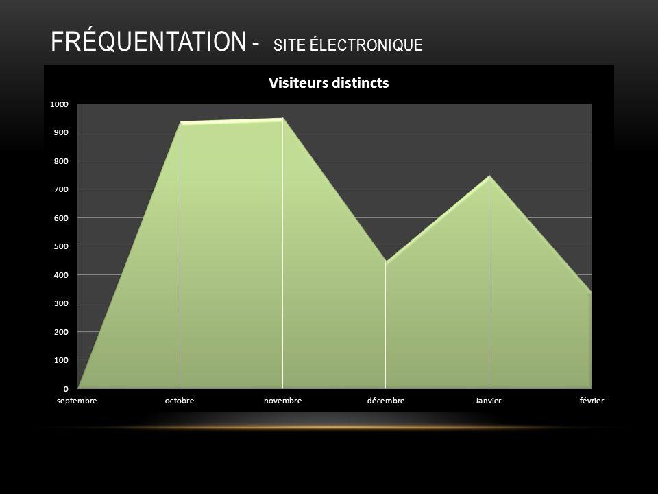 FRÉQUENTATION - SITE ÉLECTRONIQUE