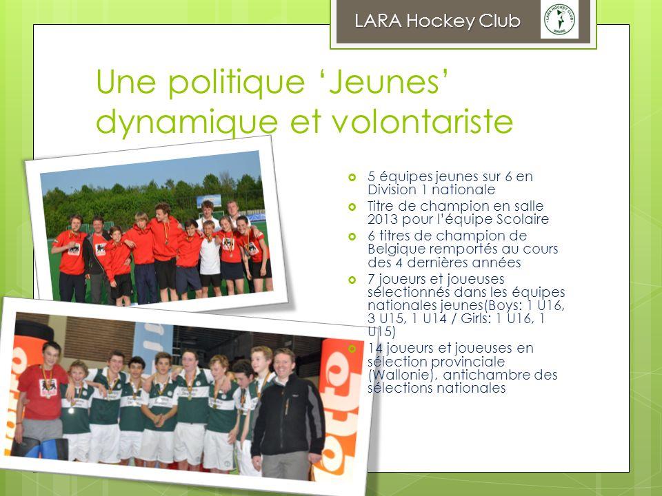 Une politique Jeunes dynamique et volontariste LARA Hockey Club 5 équipes jeunes sur 6 en Division 1 nationale Titre de champion en salle 2013 pour lé