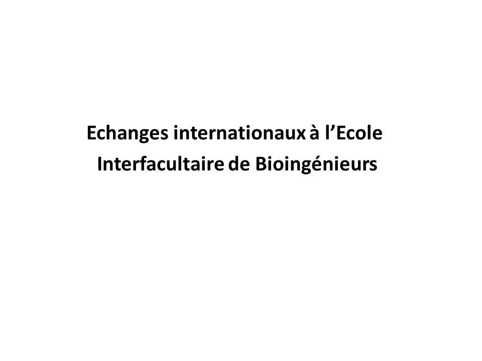 Echanges internationaux à lEcole Interfacultaire de Bioingénieurs