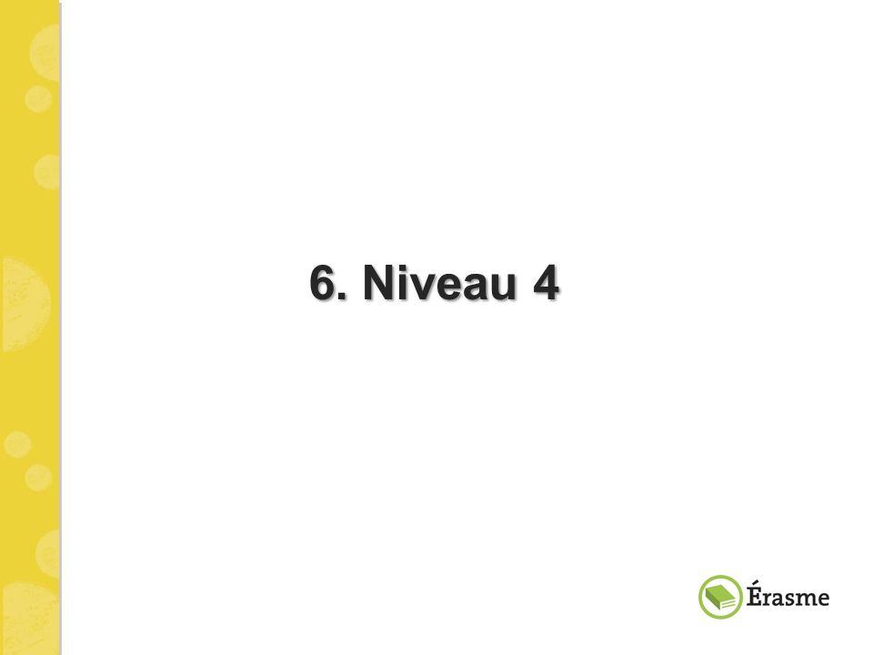 6. Niveau 4 6. Niveau 4