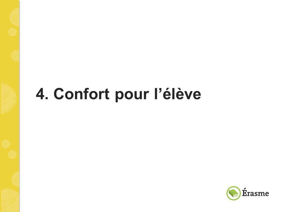 4. Confort pour lélève