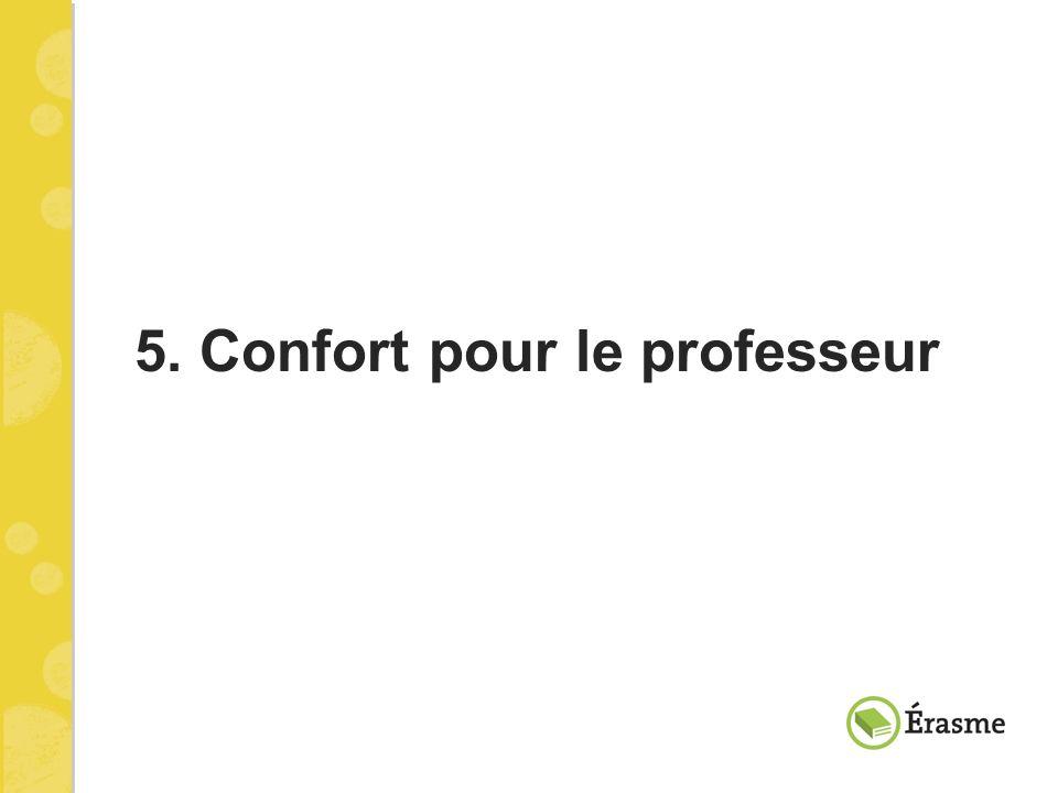 5. Confort pour le professeur