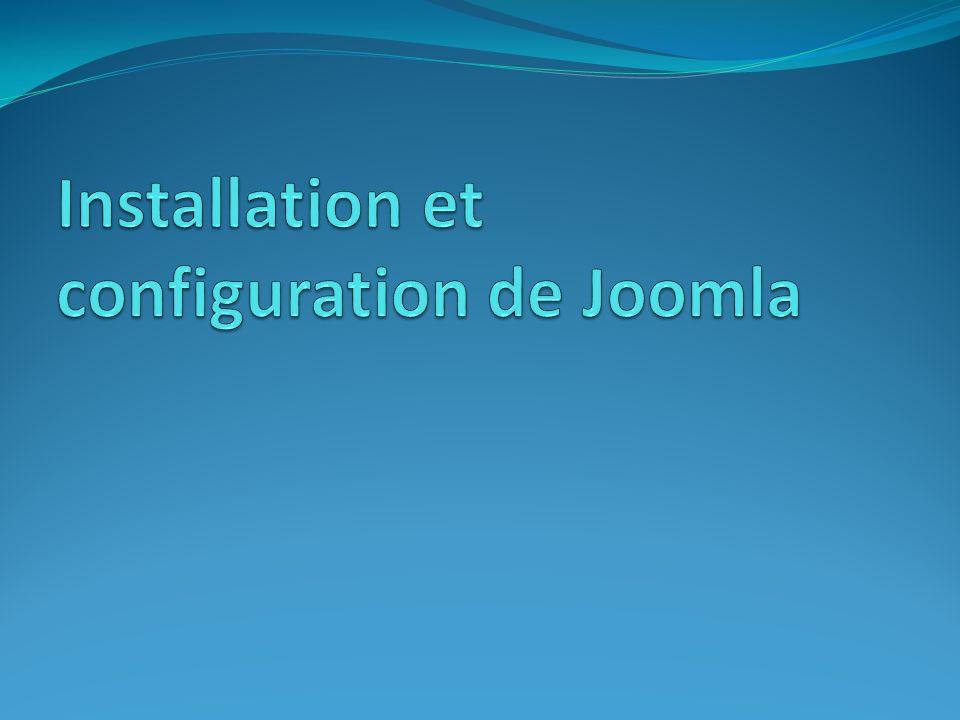 Transfert des sources d installation Joomla vers le serveur web 1.