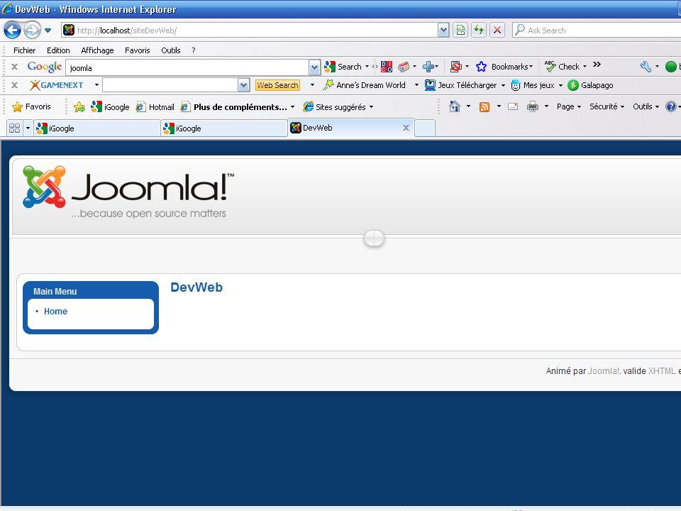 Aperçu du nouveau site Web