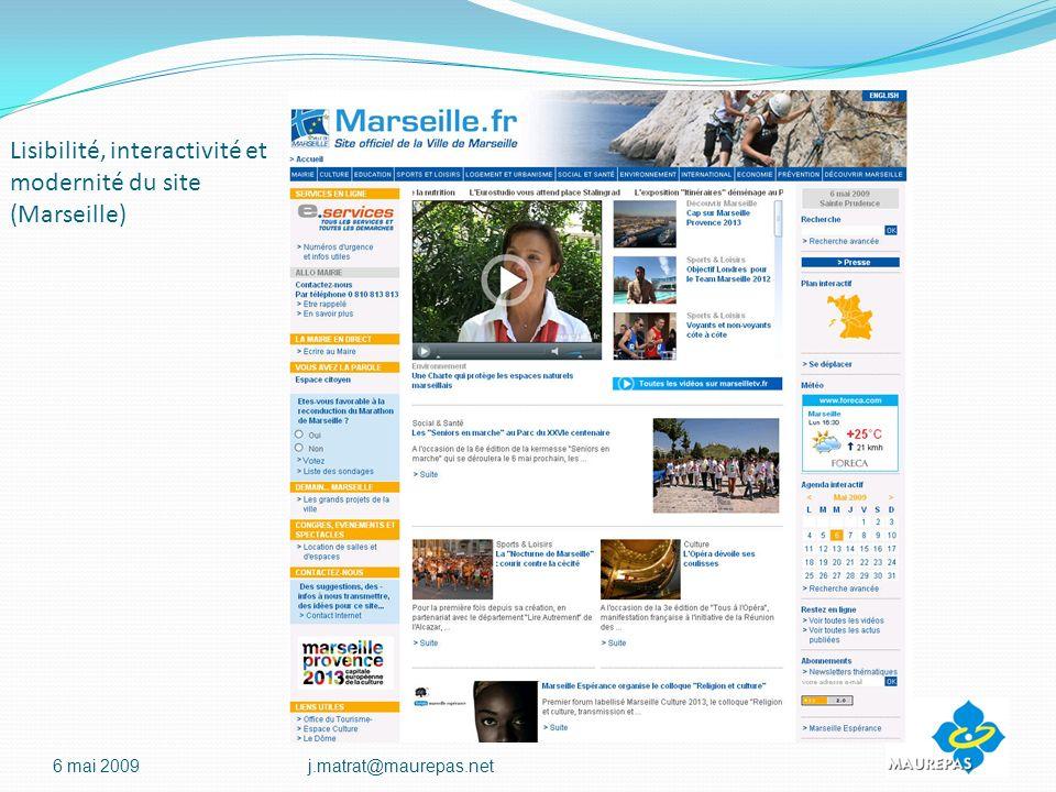 Lisibilité, interactivité et modernité du site (Marseille) 6 mai 2009j.matrat@maurepas.net