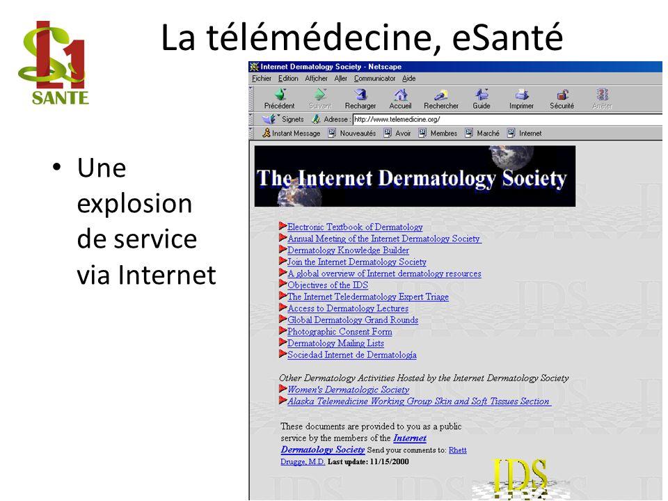 La télémédecine, eSanté Une explosion de service via Internet