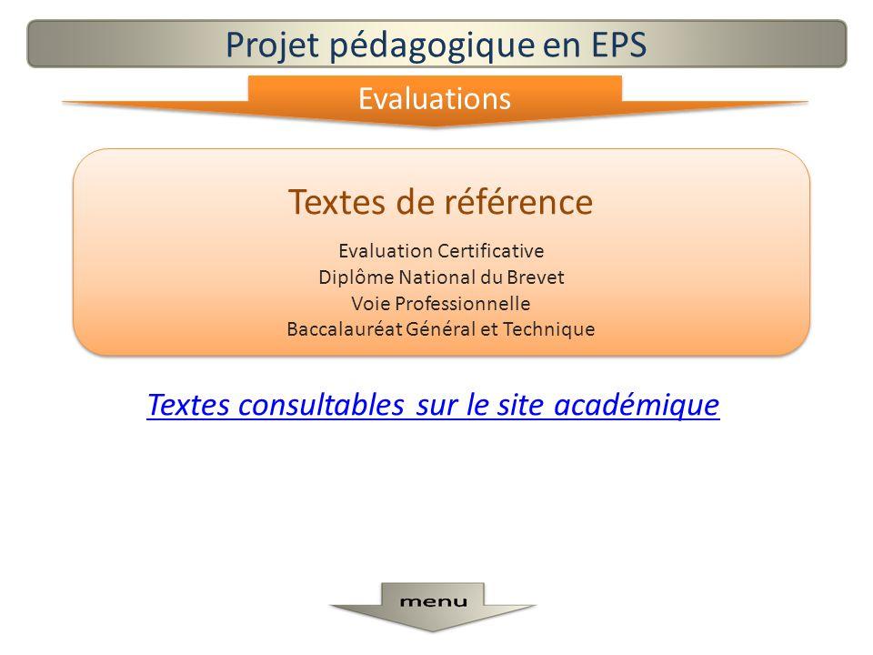 Textes de référence Evaluation Certificative Diplôme National du Brevet Voie Professionnelle Baccalauréat Général et Technique Textes de référence Eva