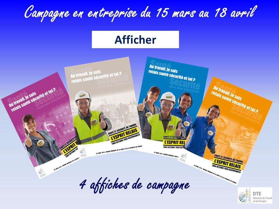 4 affiches de campagne Campagne en entreprise du 15 mars au 18 avril Afficher