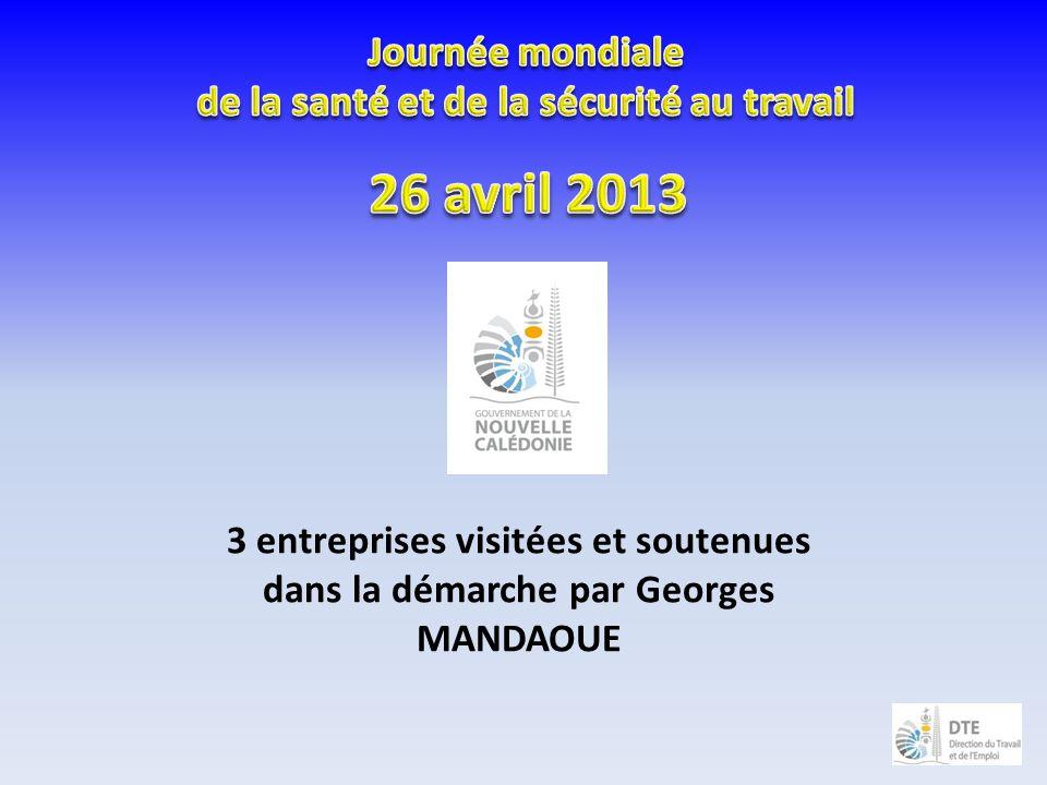 3 entreprises visitées et soutenues dans la démarche par Georges MANDAOUE