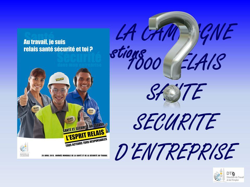 9 LA CAMPAGNE 1000 RELAIS SANTE SECURITE DENTREPRISE Des questions