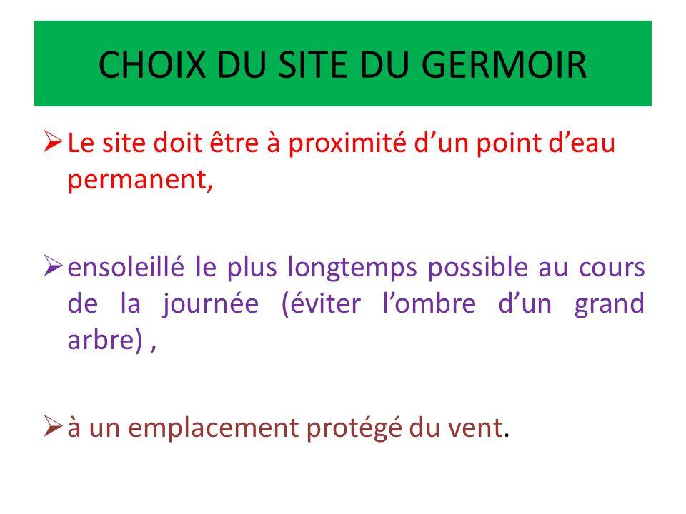 GERMOIR EN CONSTRUCTION CONSTRUCTION DE LA SERREFOND DU GERMOIR