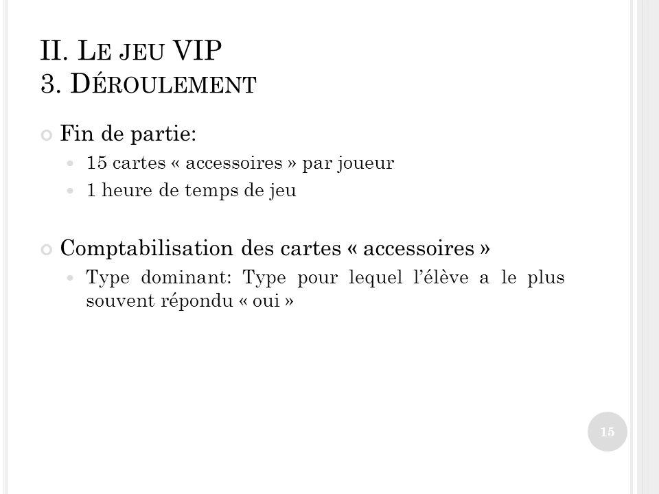 II.L E JEU VIP 3.