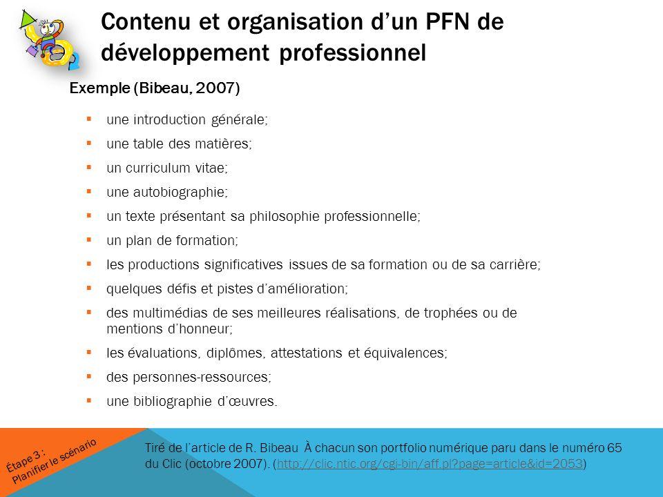 Tiré de larticle de R. Bibeau À chacun son portfolio numérique paru dans le numéro 65 du Clic (octobre 2007). (http://clic.ntic.org/cgi-bin/aff.pl?pag