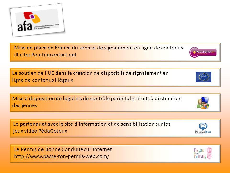Mise en place en France du service de signalement en ligne de contenus illicites Pointdecontact.net Le soutien de lUE dans la création de dispositifs