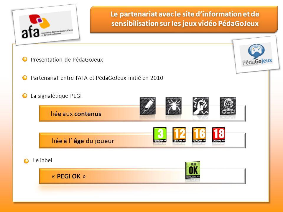 Le partenariat avec le site dinformation et de sensibilisation sur les jeux vidéo PédaGoJeux Présentation de PédaGoJeux Partenariat entre lAFA et Péda