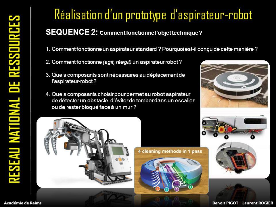 SEQUENCE 2: Comment fonctionne lobjet technique ? 1. Comment fonctionne un aspirateur standard ? Pourquoi est-il conçu de cette manière ? 2. Comment f
