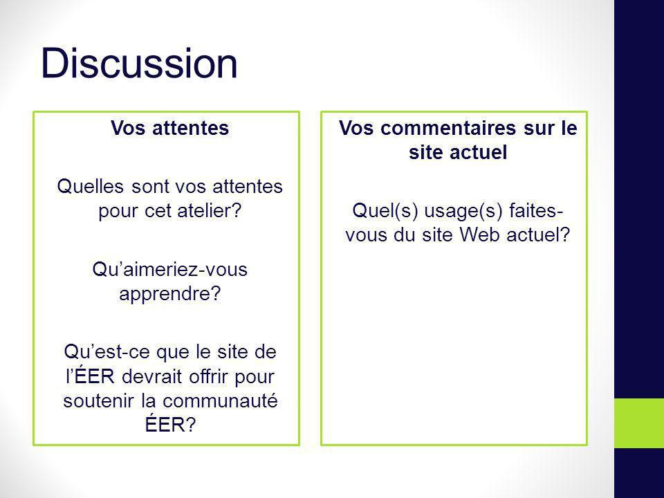 Objectifs du site Web Carrefour pour que les enseignant-e-s puissent sinformer et diffuser du contenu relatif à lÉER.