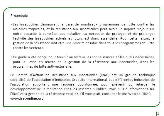 Le Comité dAction de Résistance aux Insecticides (IRAC) est un groupe technique spécialisé de lassociation dindustries CropLife International. Les dif
