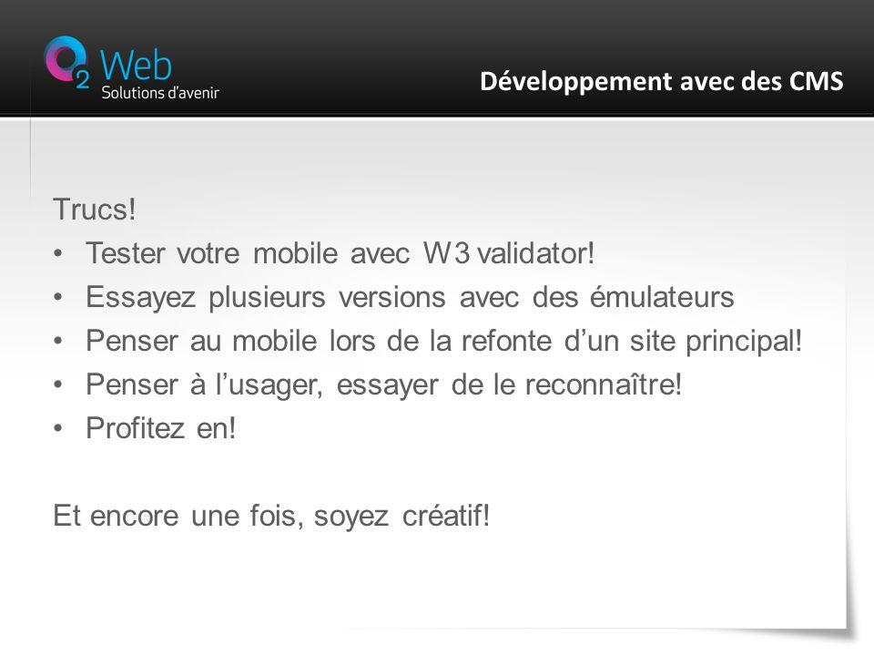 Trucs. Tester votre mobile avec W3 validator.