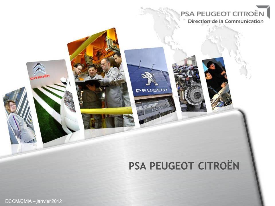 DCOM/CMIA – janvier 2012 PSA PEUGEOT CITROËN