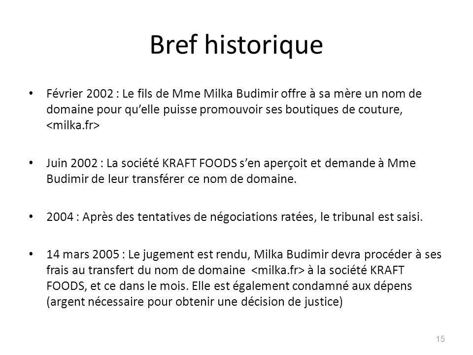 Bref historique Février 2002 : Le fils de Mme Milka Budimir offre à sa mère un nom de domaine pour quelle puisse promouvoir ses boutiques de couture,