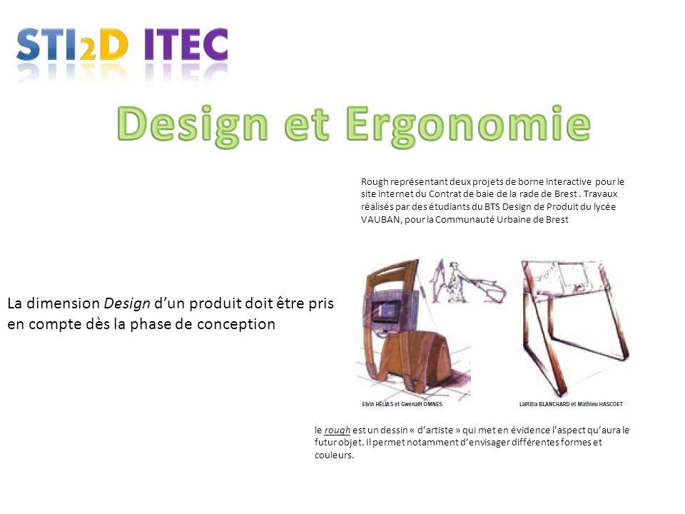 La dimension Design dun produit doit être pris en compte dès la phase de conception le rough est un dessin « dartiste » qui met en évidence laspect qu
