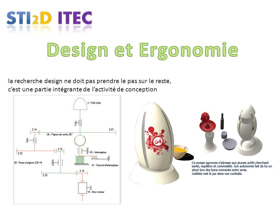 la recherche design ne doit pas prendre le pas sur le reste, cest une partie intégrante de lactivité de conception